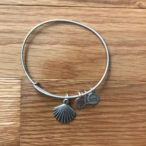 Alex and Ani Seashell charm bangle bracelet
